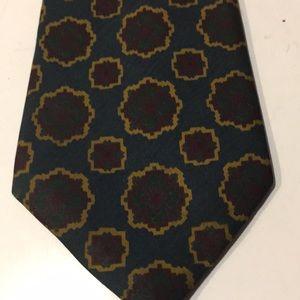 Burberry men's silk tie abstract print